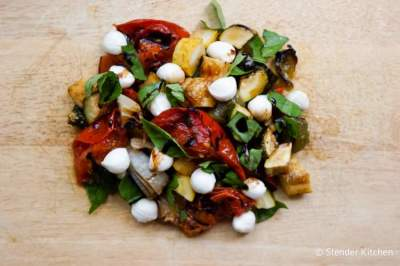 Grilled Vegetable Salad with Mozzarella